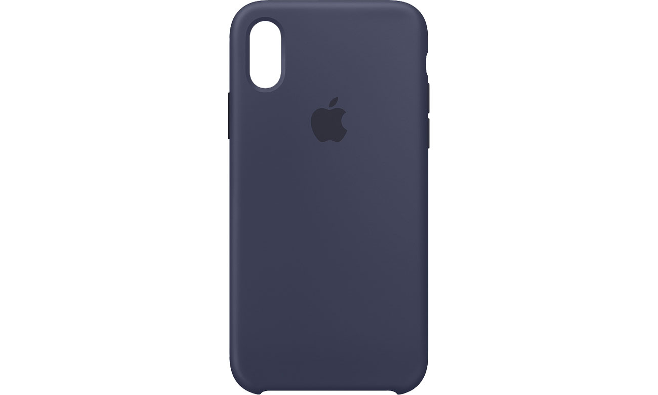 Apple iPhone XS Silicone Case Nocny Błękit