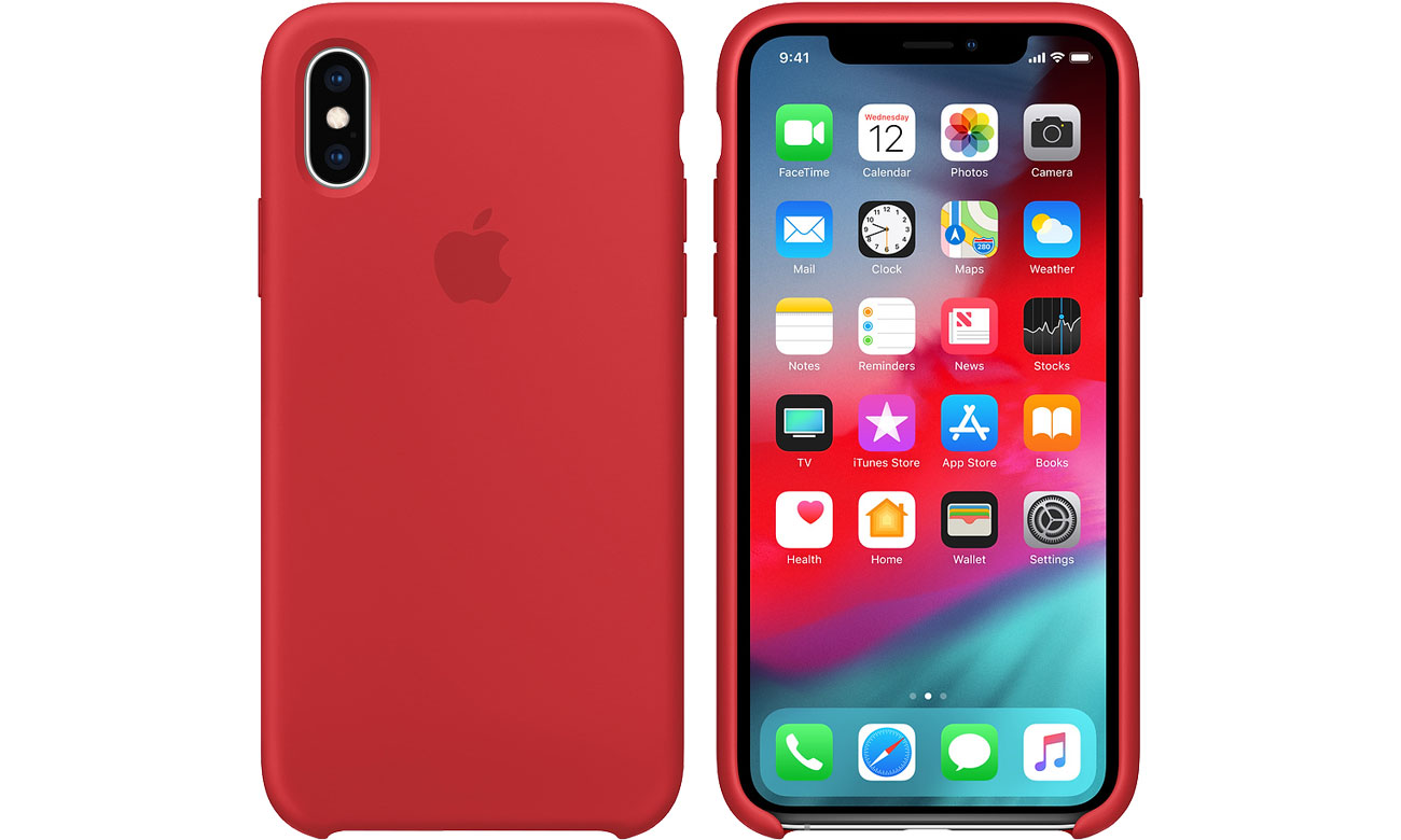 Etui Apple iPhone XS Silicone Case Product Red MRWC2ZM/A
