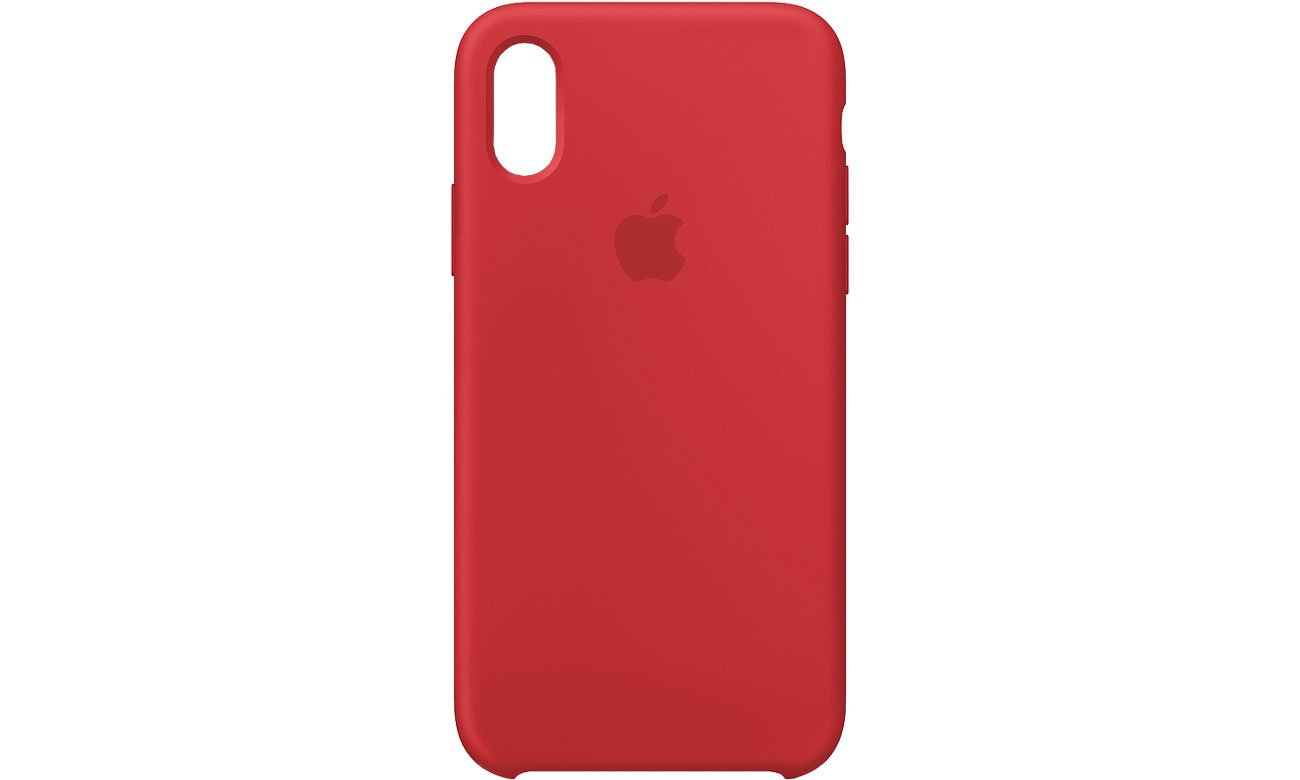 Apple iPhone XS Silicone Case Czerwony