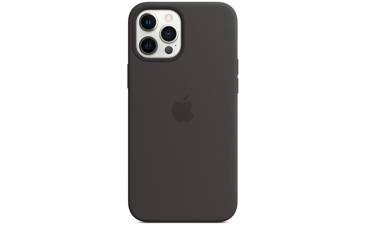 Silikonowe etui z MagSafe do Apple iPhone 12 Pro Max - Czarne