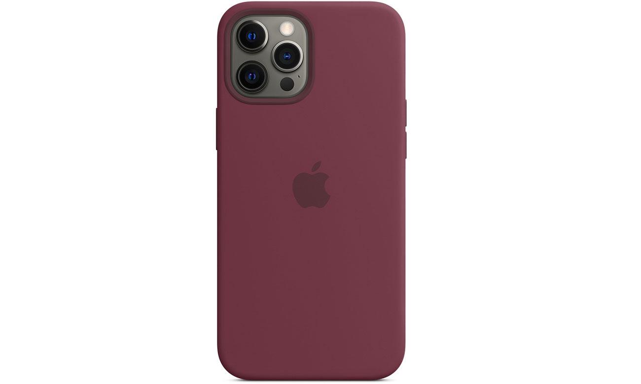 Silikonowe etui z MagSafe do Apple iPhone 12 Pro Max - Dojrzała śliwka