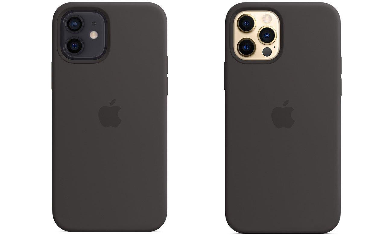 Silikonowe etui z MagSafe do Apple iPhone 12/12 Pro - Czarne