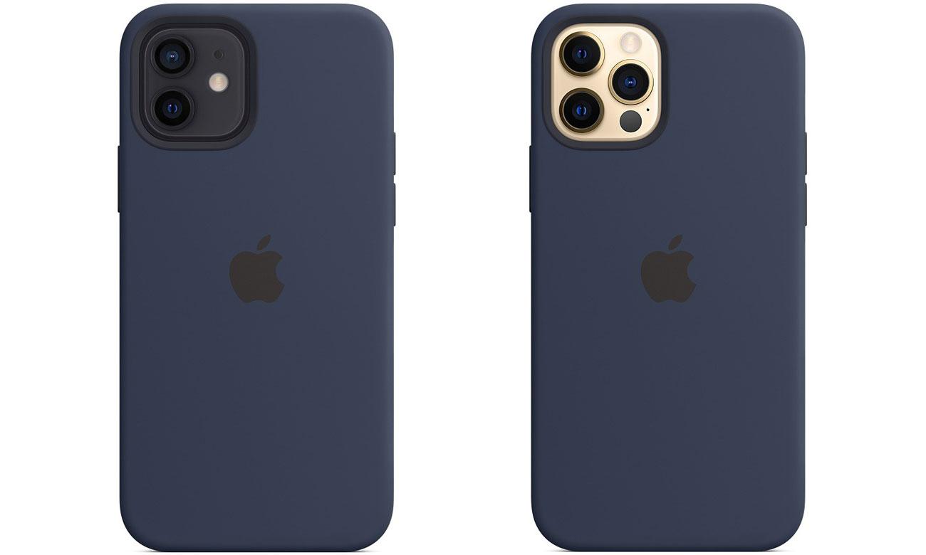 Silikonowe etui z MagSafe do Apple iPhone 12/12 Pro - Głęboki granat