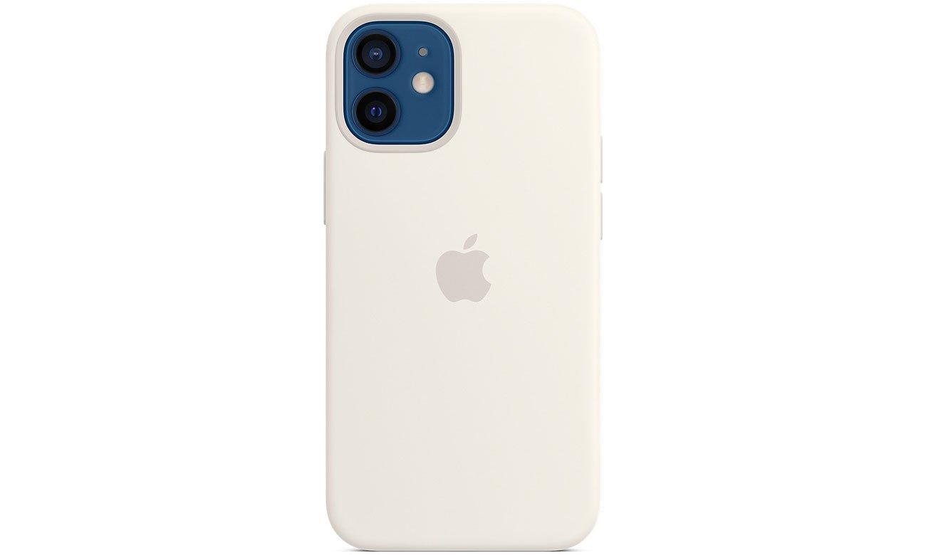 Silikonowe etui z MagSafe do Apple iPhone 12 mini - Białe