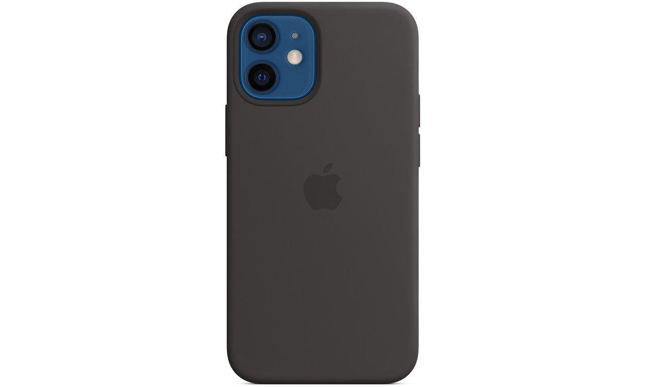 Silikonowe etui z MagSafe do Apple iPhone 12 mini - Czarne