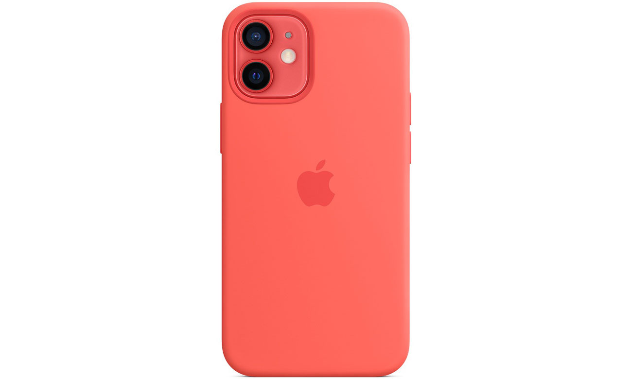 Silikonowe etui z MagSafe do Apple iPhone 12 mini - Różowy cytrus