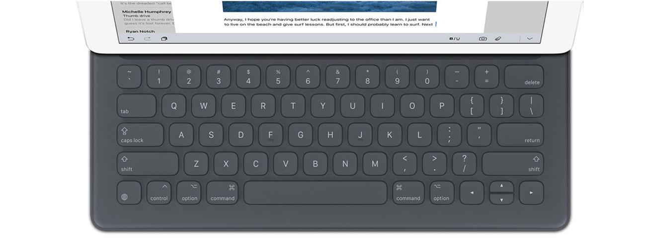 Apple Smart Keyboard idealna konstrukcja odporna na wode zabrudzenia
