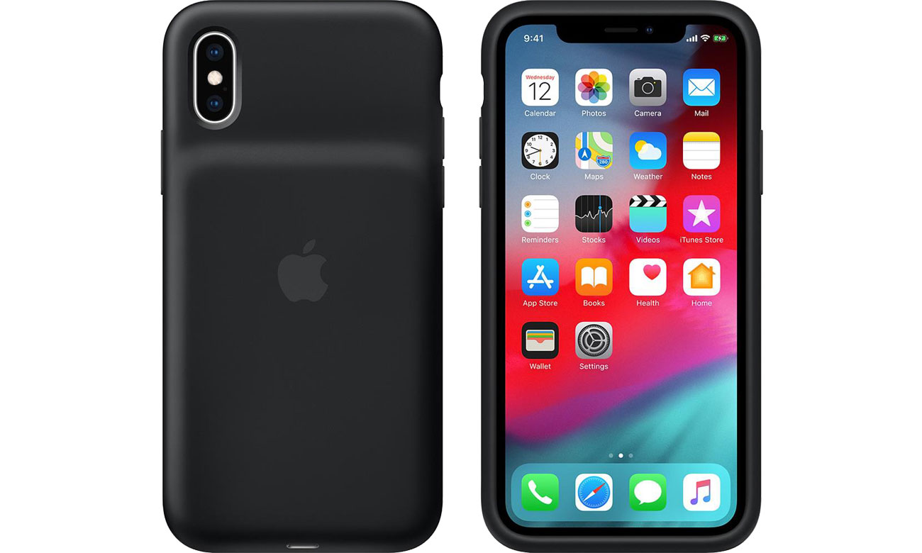Smart Battery Case do iPhone Xs Black
