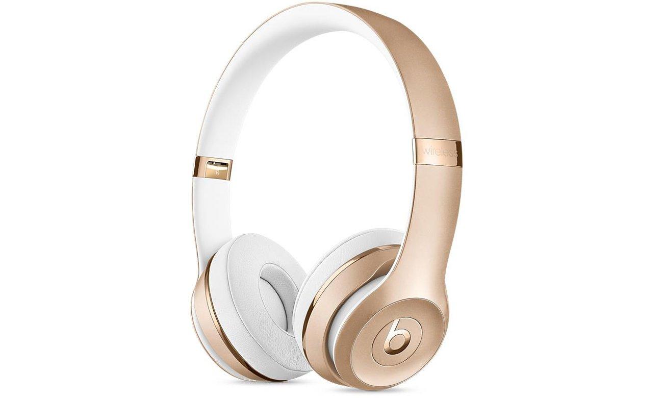 Słuchawki Apple Beats Solo3 Wireless Złote Noise Isolating