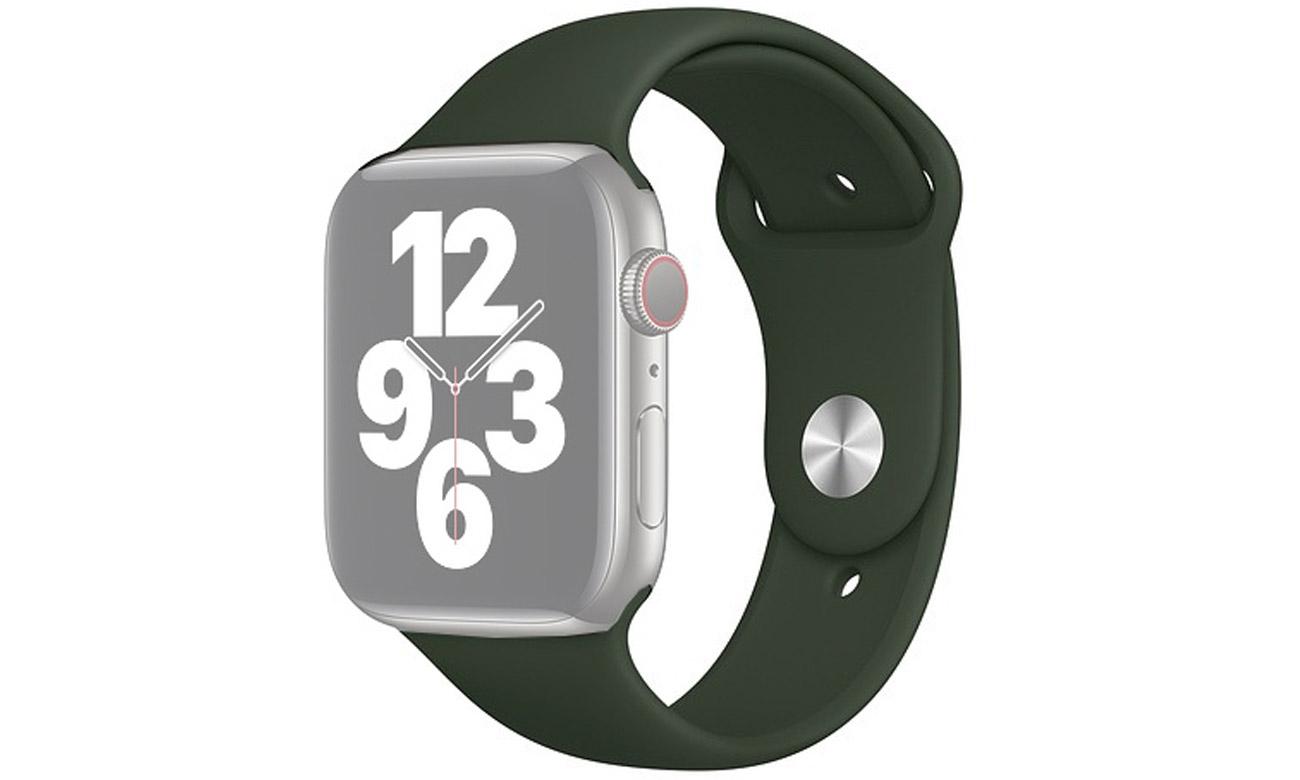 Pasek sportowy w kolorze cypryjskiej zieleni do Apple Watch 44 mm