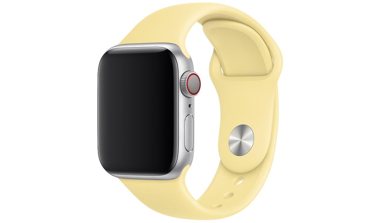 Pasek sportowy w kolorze kremu cytrynowego do Apple Watch 44 mm