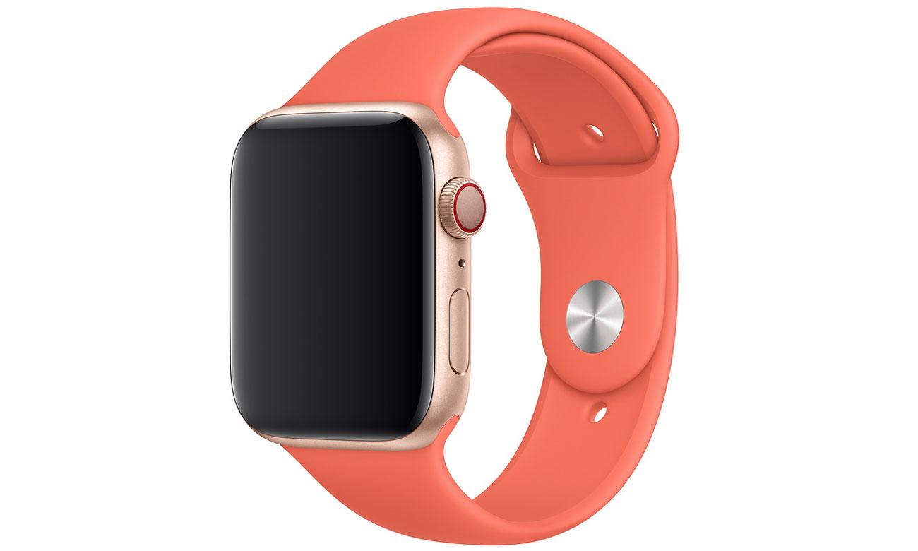 Pasek sportowy w kolorze mandarynkowym do Apple Watch 44 mm