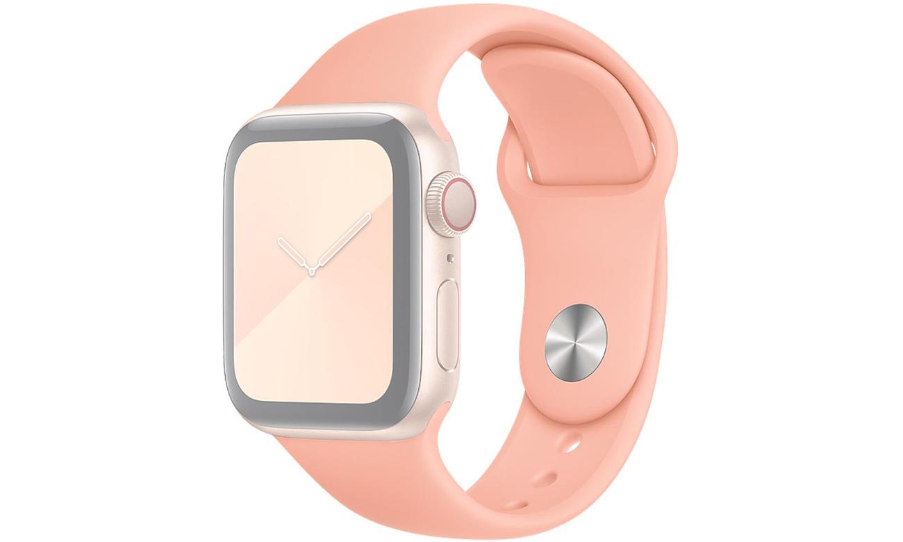 Pasek sportowy w kolorze grejpfrutowym do Apple Watch 40 mm