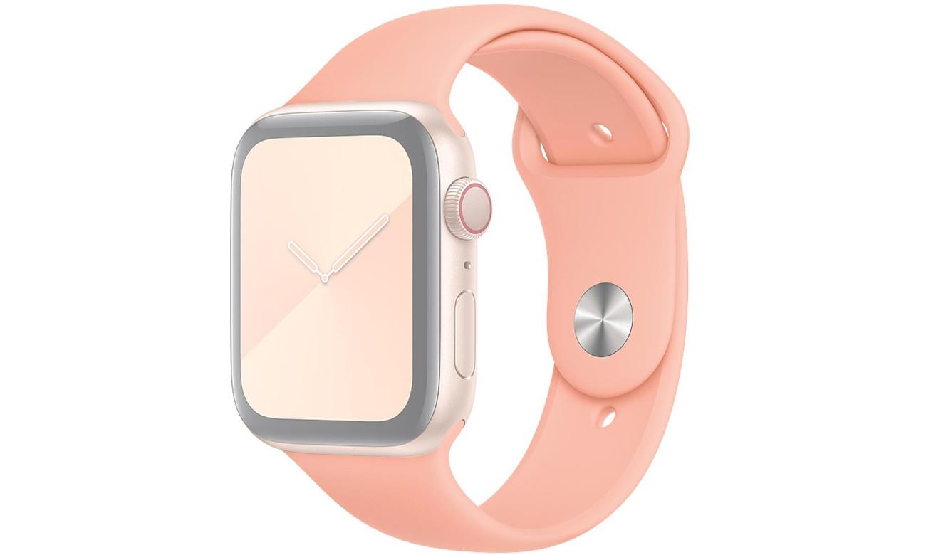 Pasek sportowy w kolorze grejpfrutowym do Apple Watch 44 mm