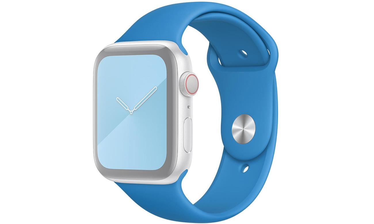 Pasek sportowy w kolorze błękitnej fali do Apple Watch 44 mm