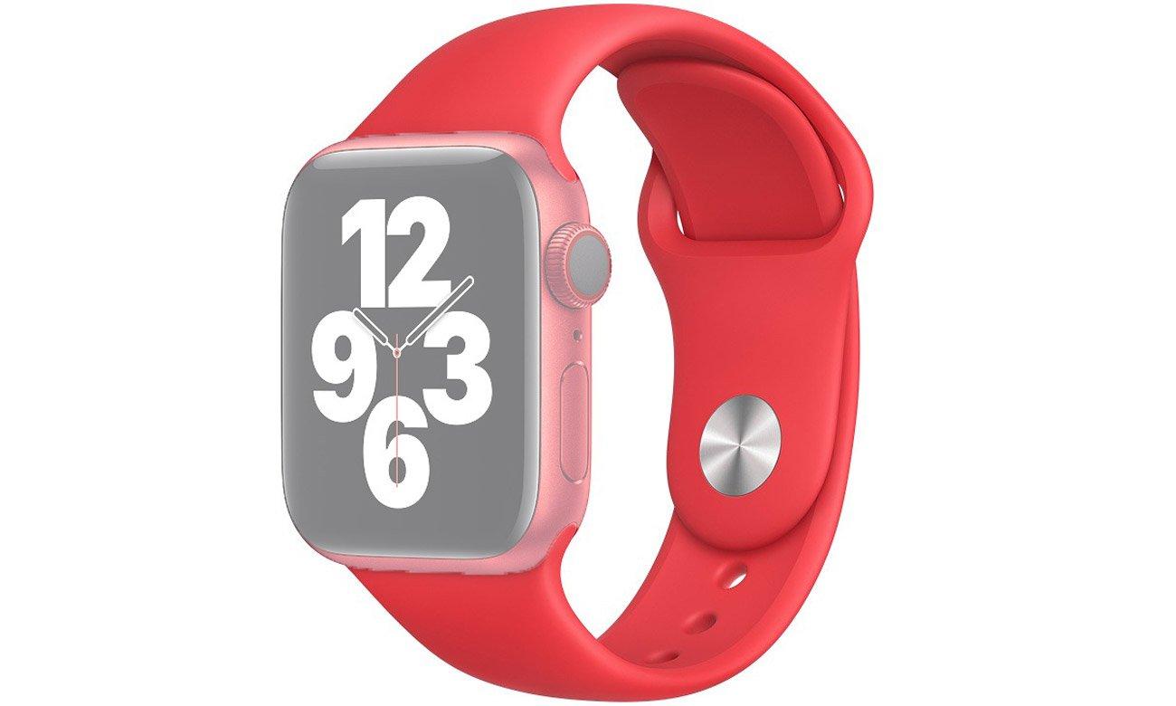 Pasek sportowy w kolorze czerwonym do Apple Watch 40 mm
