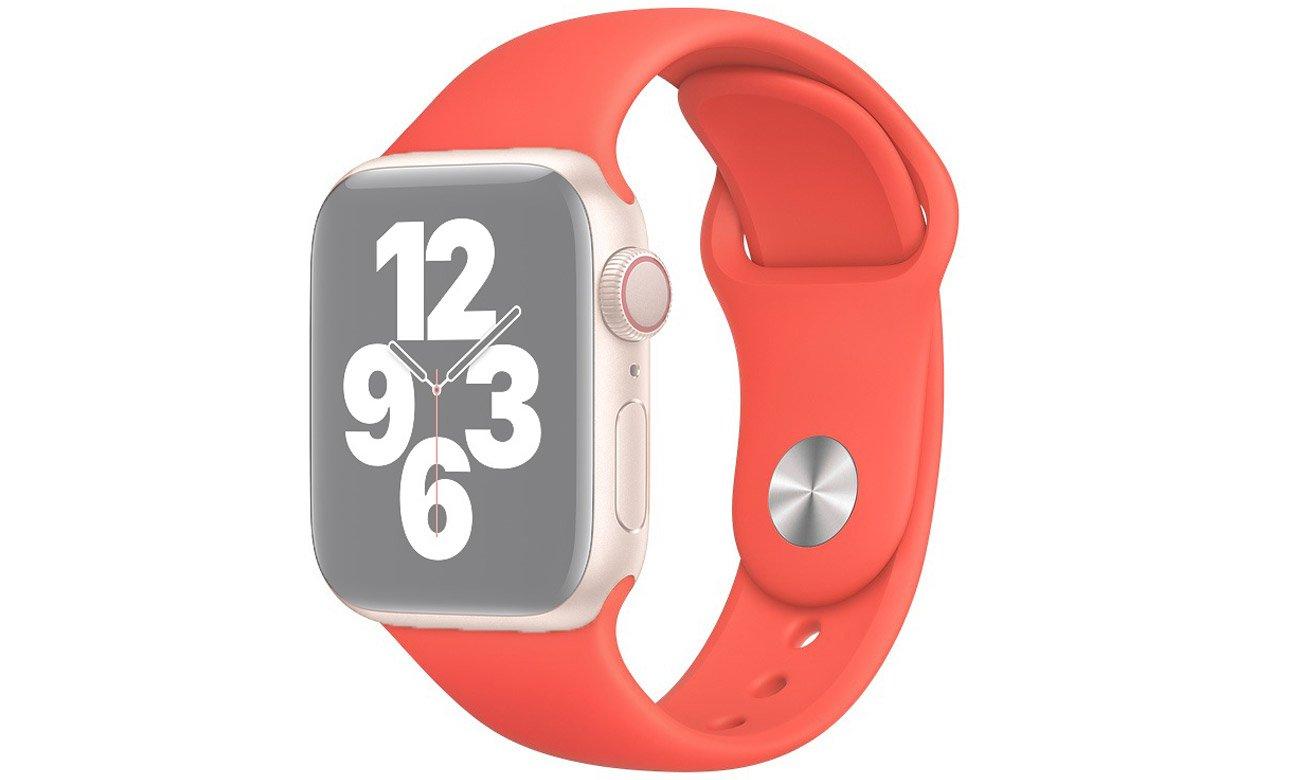 Pasek sportowy w kolorze różowego cytrusa do Apple Watch 40 mm