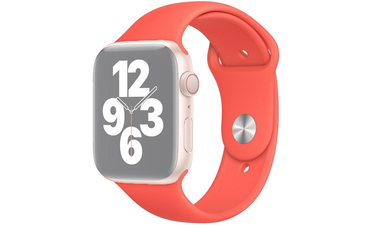 Pasek sportowy w kolorze różowego cytrusa do Apple Watch 44 mm