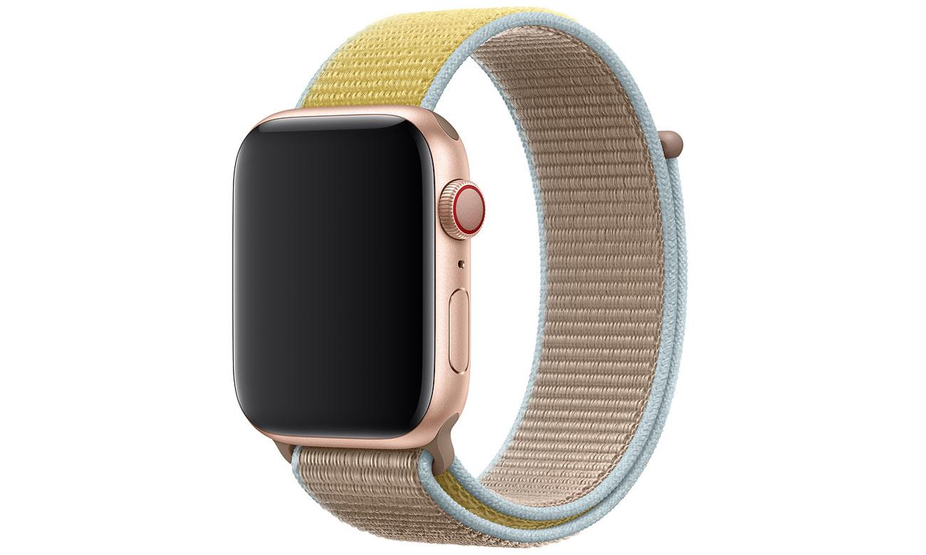 Opaska sportowa w kolorze wielbłądziej sierści do Apple Watch 44 mm
