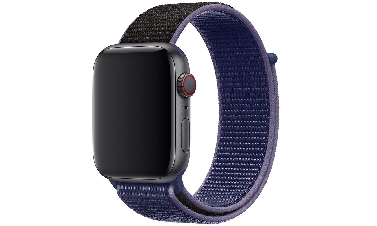 Opaska sportowa w kolorze nocnego błękitu do Apple Watch 44 mm