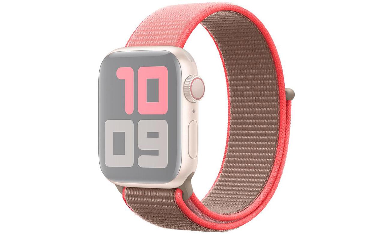 Opaska sportowa w kolorze neonowego różu do Apple Watch 40 mm