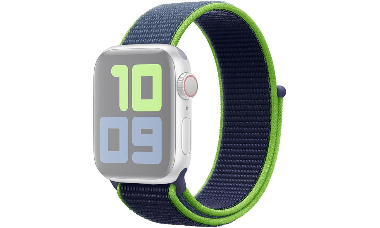 Opaska sportowa w kolorze neonowej limonki do Apple Watch 40 mm