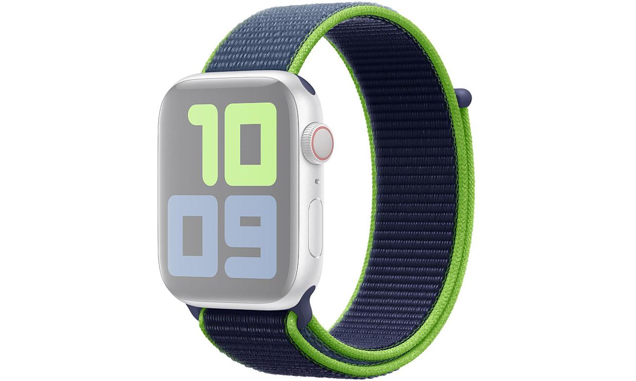 Opaska sportowa w kolorze neonowej limonki do Apple Watch 44 mm