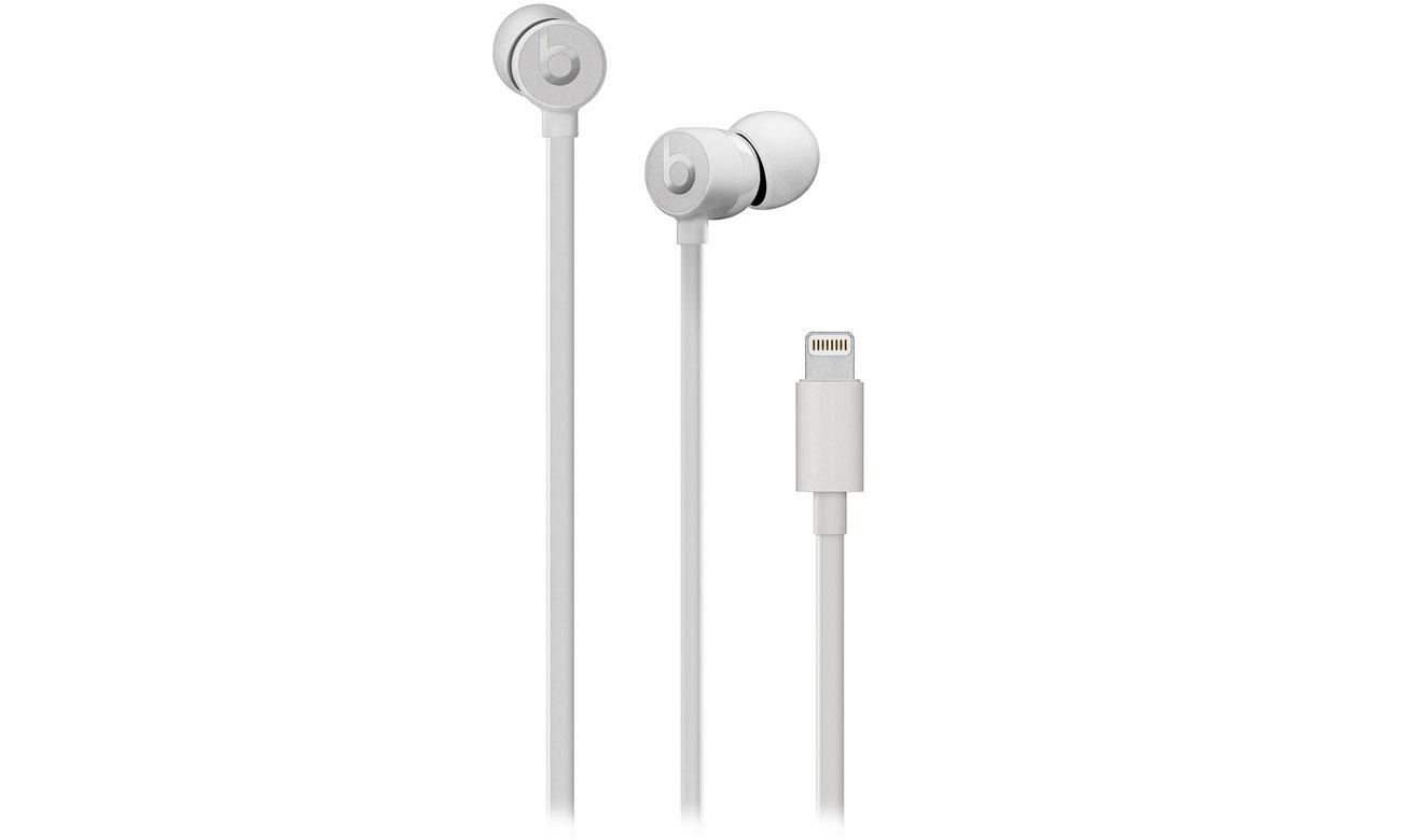 Słuchawki Apple urBeats3 satynowe srebro ze złączem Lightning