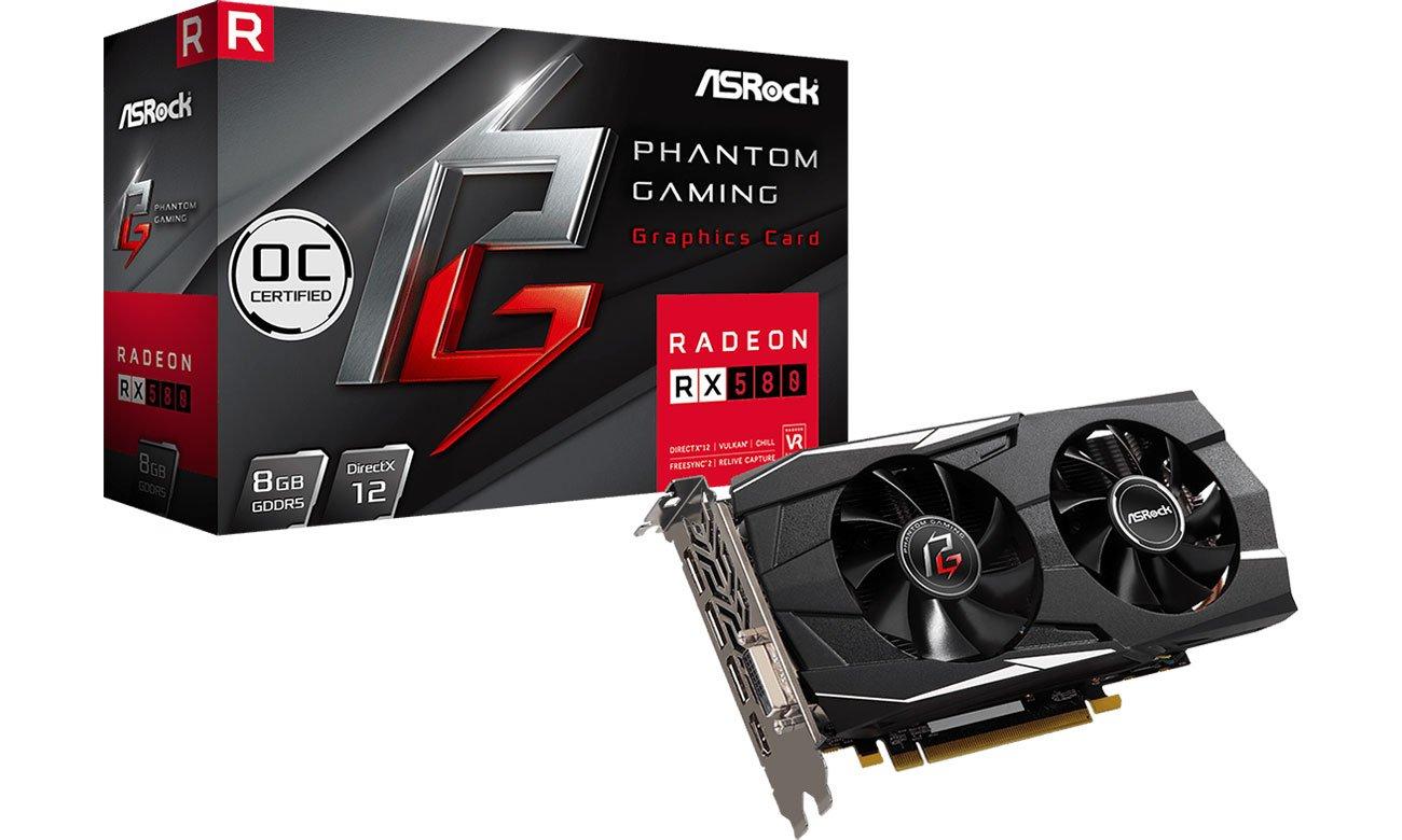 Karta graficzna ASRock Radeon RX 580 Phantom Gaming D OC 8GB GDDR5 90-GA0M00-00UANF