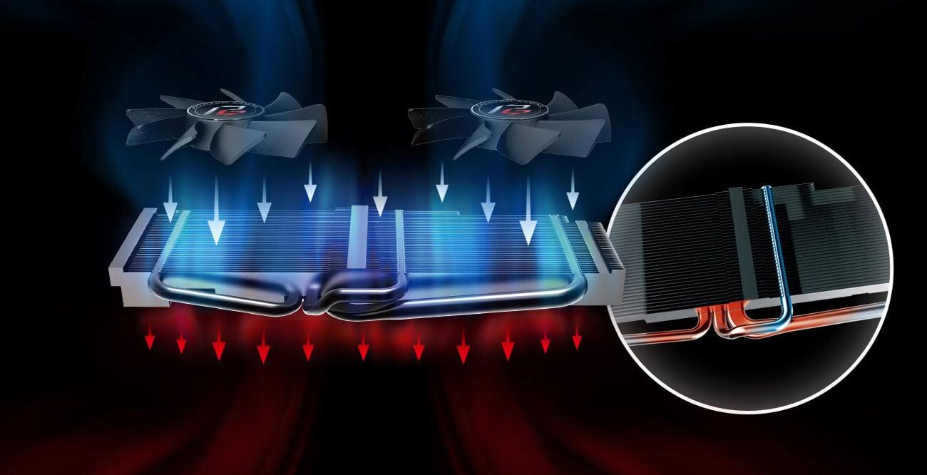 ASRock Radeon RX 580 Phantom Gaming D OC Chłodzenie