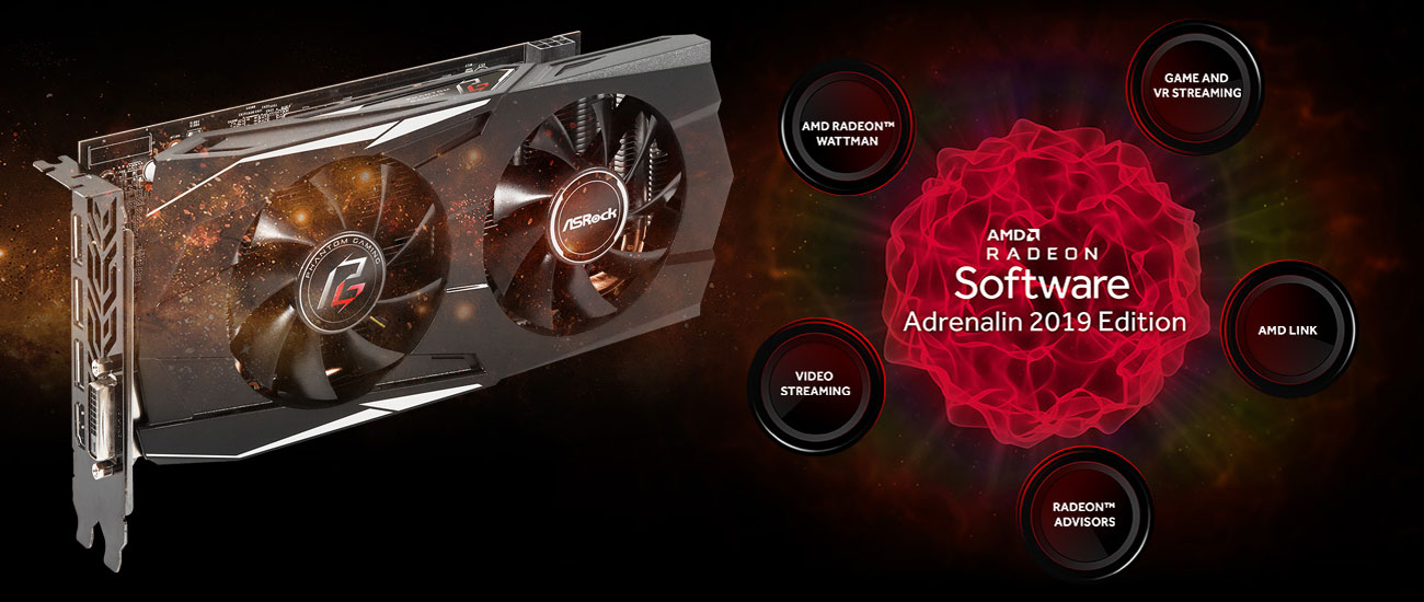 ASRock Radeon RX 580 Phantom Gaming D OC Software ADRENALIN 2019 Edition