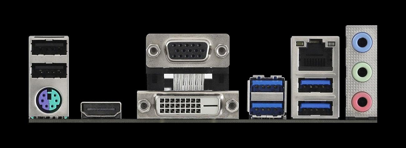 ASRock A520M-HDV - Złącza