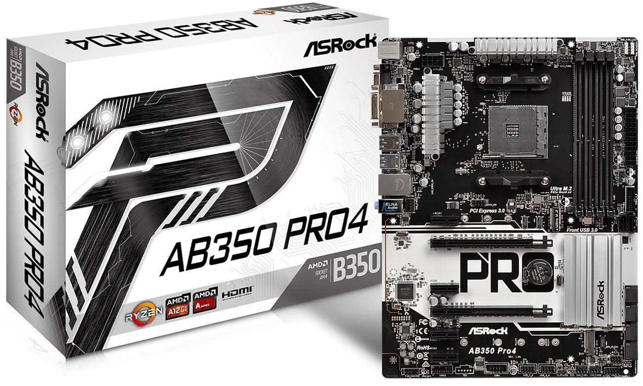 Płyta główna ASRock AB350M PRO4 Pudełko