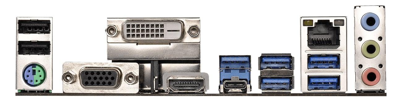 Płyta główna ASRock AB350M PRO4 Porty