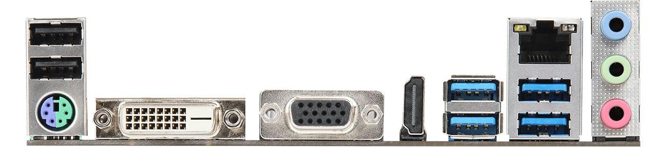 ASRock AB350M-HDV R3.0 Złącza zewnętrzne