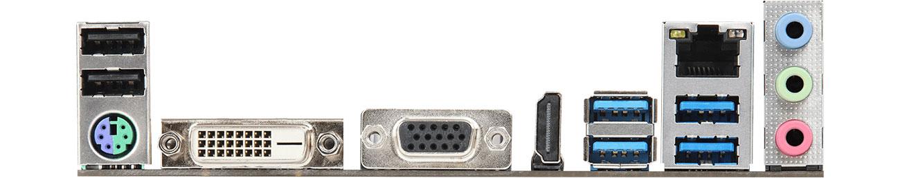 ASRock AB350M-HDV R4.0 - Porty