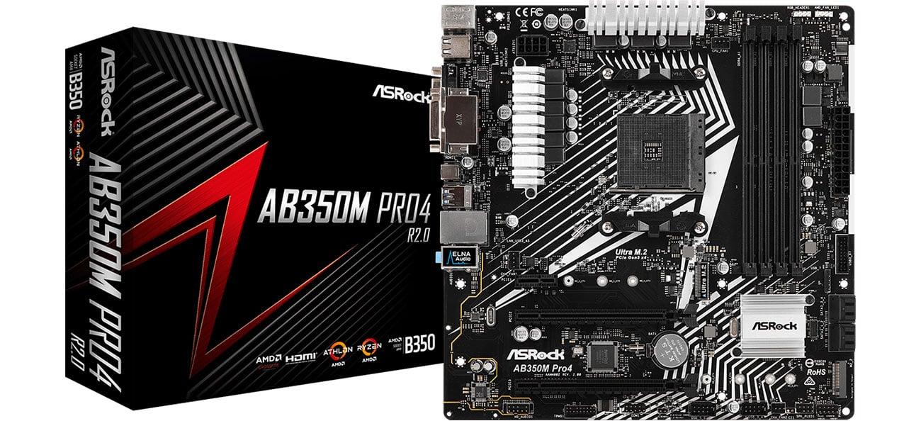 Płyta główna ASRock AB350M PRO4 R2.0 packshot