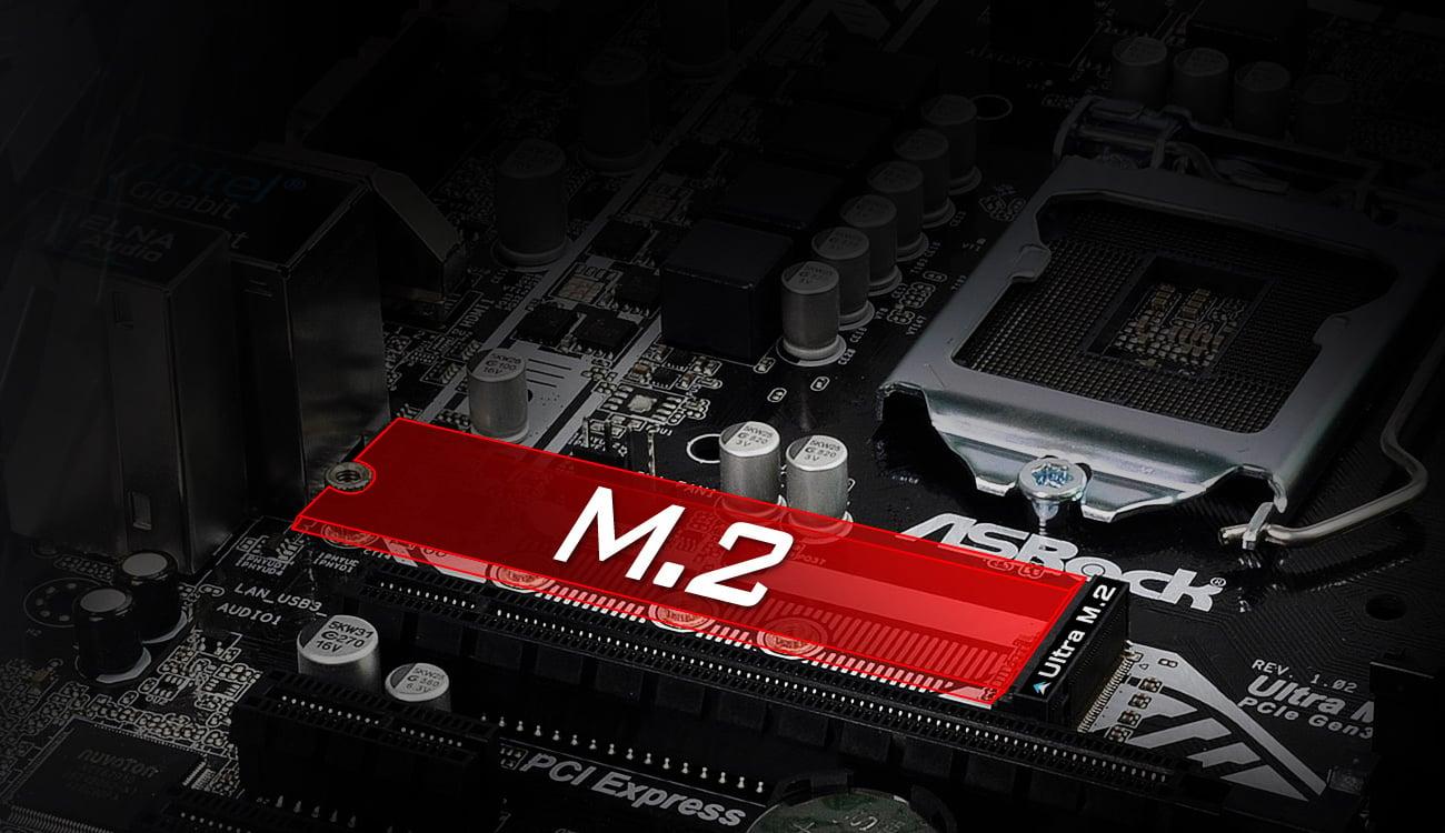 ASRock B250M-HDV Sloty M.2 dla SSD Intel Optane