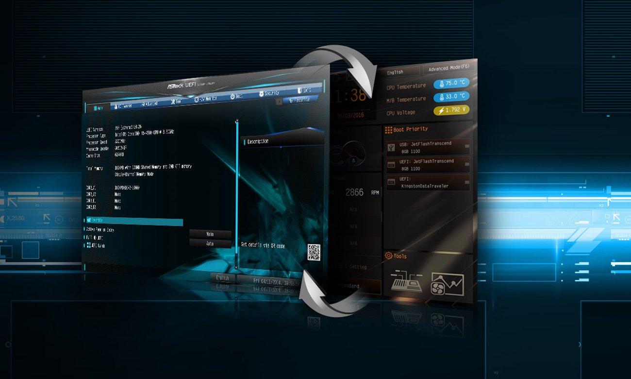ASRock B250M-HDV UEFI oraz Tryb EZ