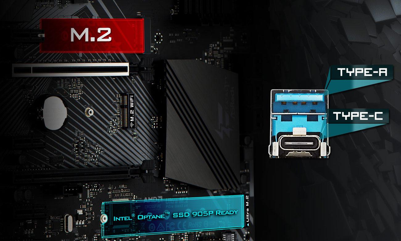 ASRock B360 Gaming K4 PCIe Gen3 x4 Ultra M.2 oraz USB 3.1 Gen2