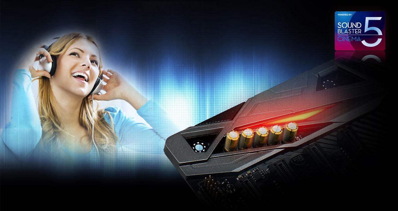 ASRock B360 Gaming K4 Audio Creative Sound Blaster Cinema 5