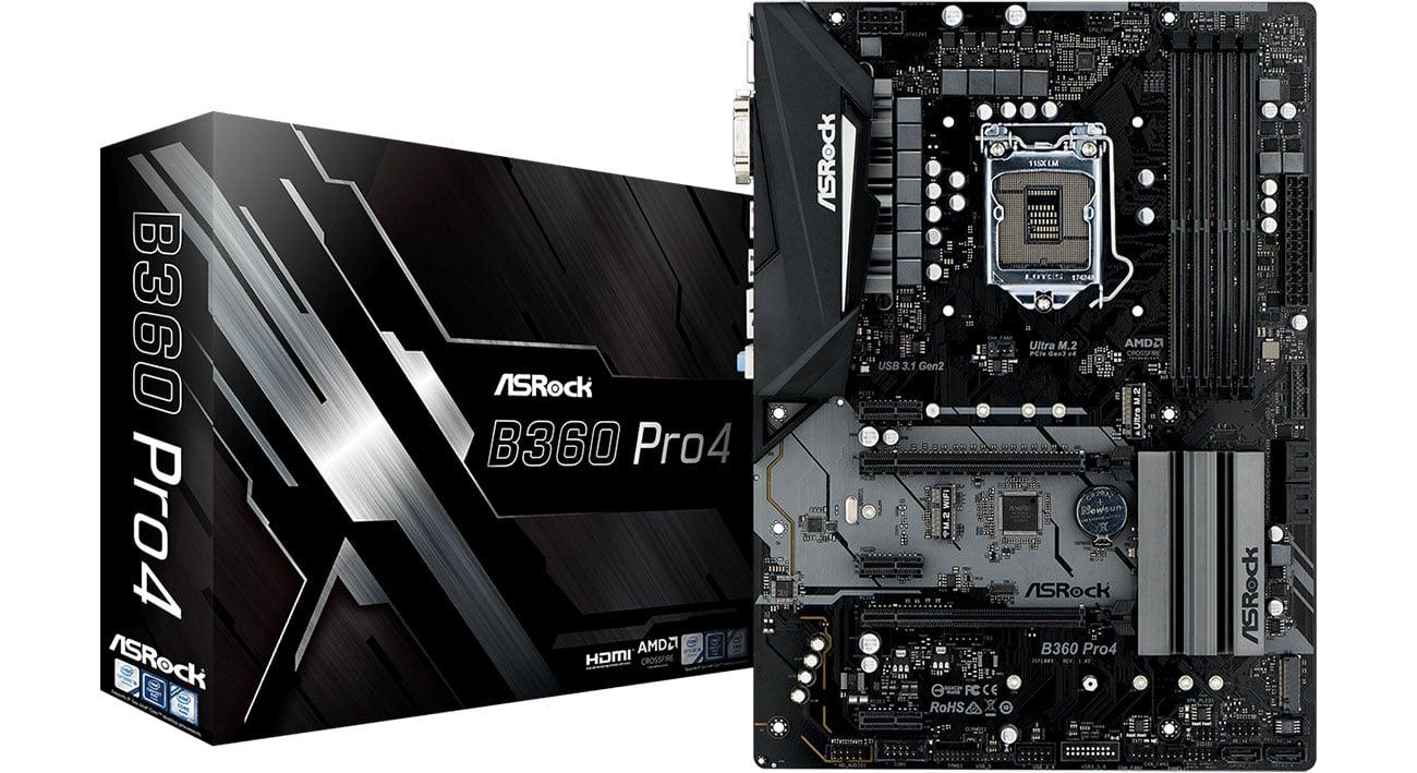 Płyta główna Socket 1151 ASRock B360 Pro4