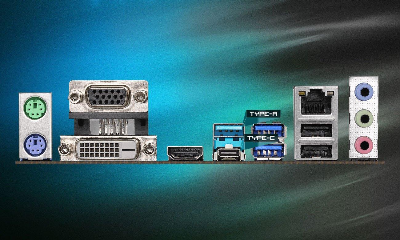 ASRock B360M Pro4 Porty USB