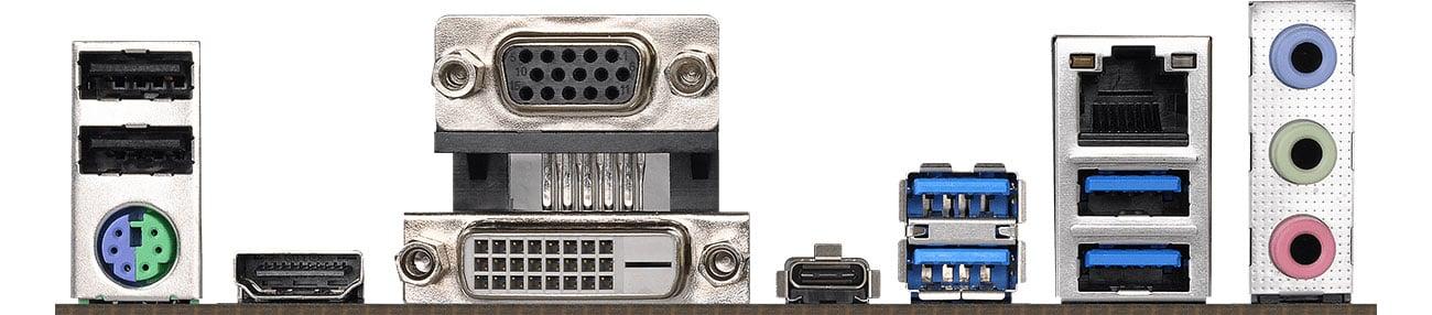 ASRock B365M Pro4 Złącza