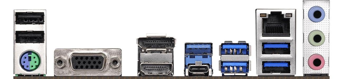 ASRock B450 Pro4 Złącza