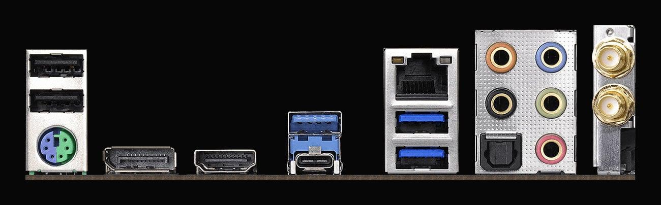 ASRock B450 GAMING-ITX/AC Złącza USB
