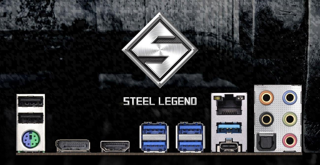 ASRock B450 Steel Legend - Złącza płyty głównej