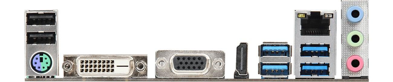 ASRock B450M-HDV R4.0 - Złącza