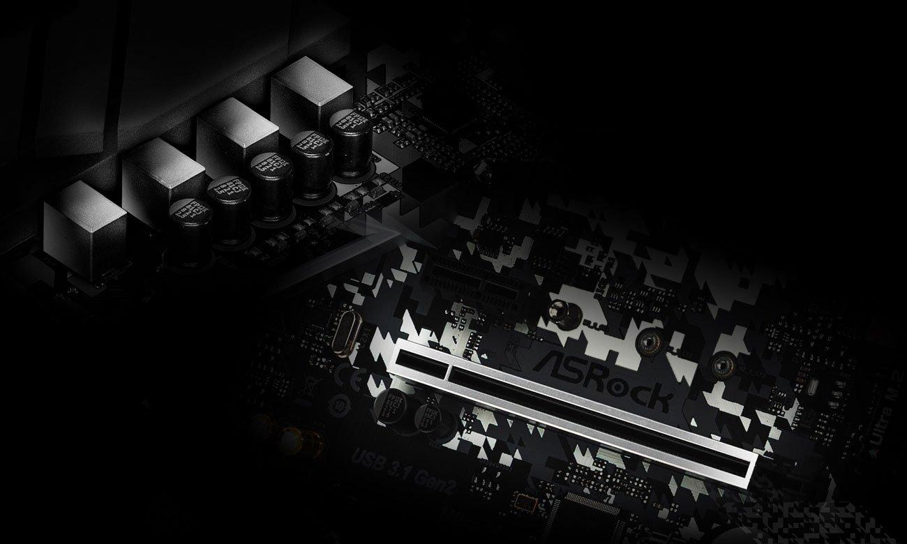 ASRock B450M Steel Legend - Sekcja zasilania, PCI-E Steel Slot