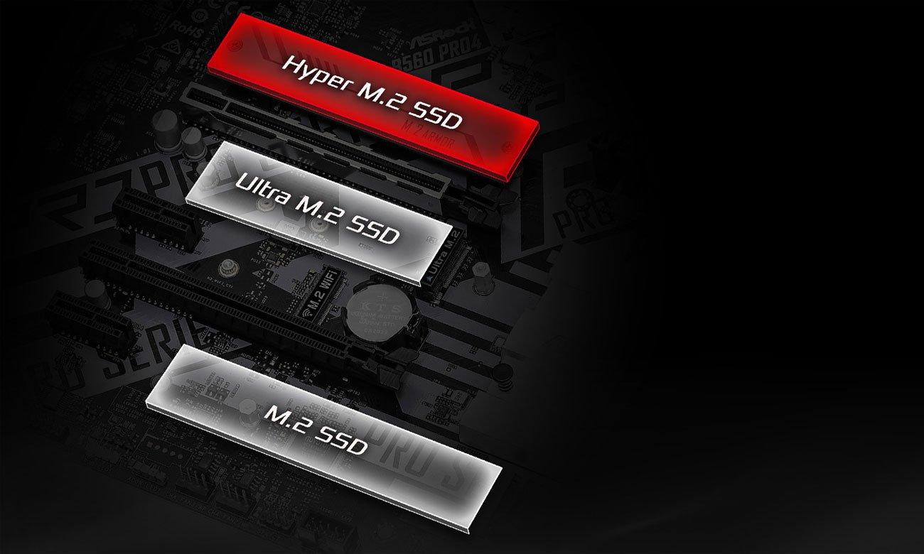 ASRock B560 Pro4 - Złącza M.2